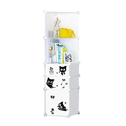 ACZZ Regale bücherregal würfel aufbewahrungsbox diy kunststoff schrank modulare bücherregal organisieren, schlafzimmer, wohnzimmer, büro, 5 farben,C,15,35 * 14,56 * 57,87in - Modulare Büro-schränke