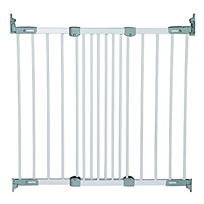 BabyDan Super Flexi Fit Extending Metal Safety Gate (White/Silver)  Safetots Limited