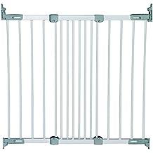 BabyDan barriera di sicurezza estensibile in metallo bianco/argento