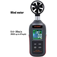 Digital Anemometer,UYIGAO Windmesser Handheld Wind Speed Meter for Windsurfing Surfing Sailing Fishing Hand Gliding with LCD Display