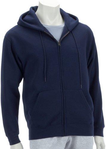 Fruit of the Loom Classic Hooded Sweat Jacket Blau (Marine)