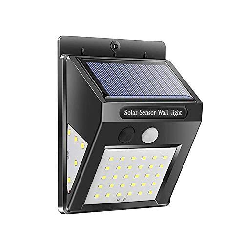 Solar-Wandleuchte Außenbewegungssensor, Dreiseitig Solar-Außenleuchte, Superhelles COB 30 LED-Wasserdichtes, Wasserdichtes Solarlicht, Solar-Sicherheitslicht Für Veranda, Terrasse, Innenhof, Terrasse