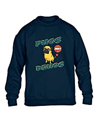 K67 Womens Pugs Dog Print Long Sleeve Ladies Top Sweatshirt