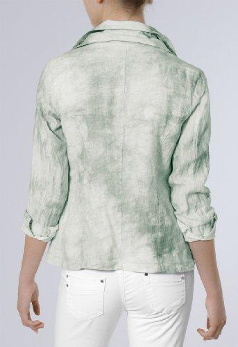 CASPAR Veste d'été légère et courte pour femme / Blazer 100% LIN - plusieurs coloris - BZR001 Vert