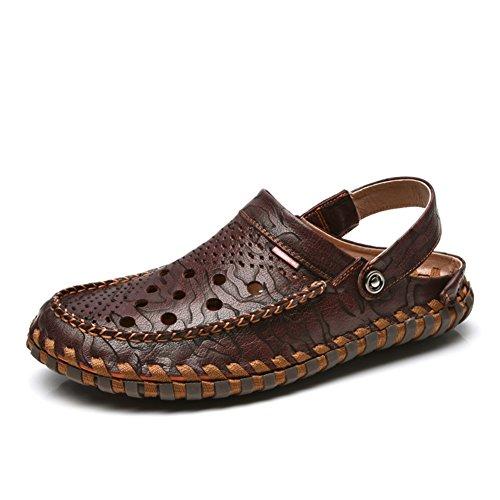Männer Sommer Sandalen Baotou/Hand-große Schuhe/Doppelten Zweck Strand-Freizeitschuhe/Crocs A