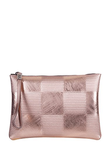 GUM BY GIANNI CHIARINI BORSA POCHETTE LATTICE ROSA SCACCHI, 4052.GUM