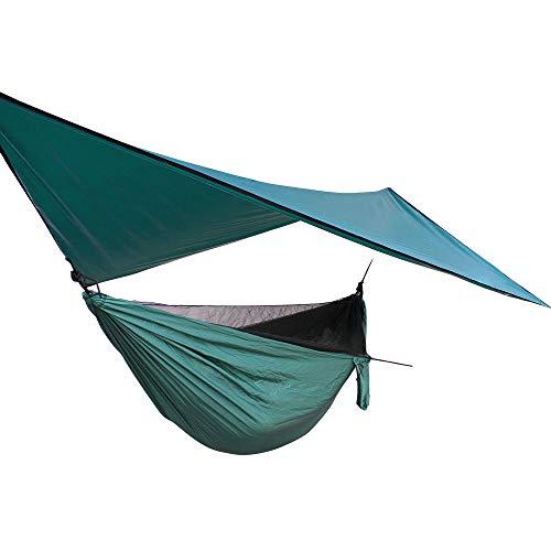 RHJJIPSD Hängematte, Moskitonetz-Hängemattenverdeck-Set Winddichtes Anti-Moskitonetz-Verdeck mit elastischer Outdoor-Moskitonetz-Hängematte (Personen Outdoor 2 Swing)