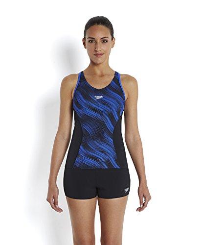 speedo-womens-fit-allover-splice-tankini-swimsuit-black-deep-peri-size-36