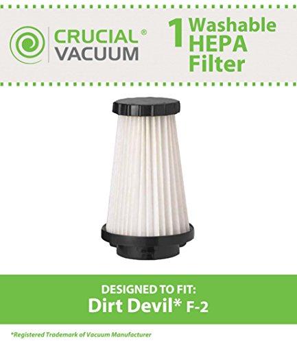 Dirt Devil F2Ersatz HEPA Filter; Vergleichen um Dirt Devil Teil # 3sfa11500X, 3-f5a115–00X; Entworfen und Hergestellt von Crucial Vacuum