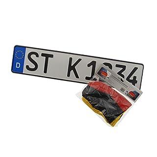 2 Standard PKW EU Kennzeichen in der Größe 520x110 mm inklusive 2 Spiegelüberzieher Deutschland