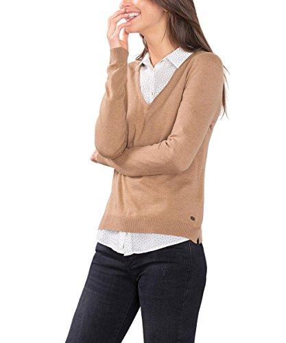 edc-by-esprit-basic-mit-v-ausschnitt-pull-femme-marron-camel-38-taille-fabricant-medium