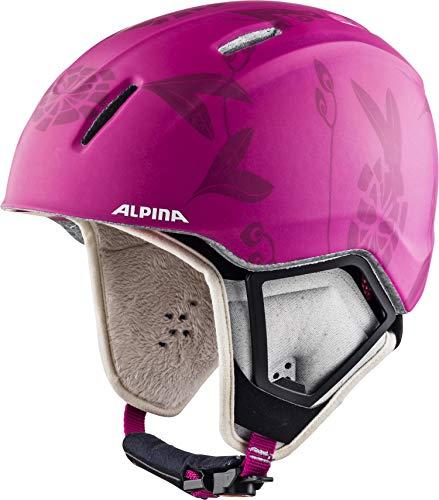 ALPINA Mädchen Carat XT Skihelm, Pink-Flower Matt, 51-55 cm