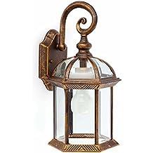 Faro iluminación–teruel-2applique Oro Antico 1L 3U E2720W