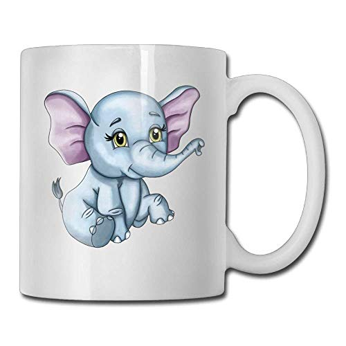 Kawaii Elephant Custom Coffee Mugs 11 Oz Ceramic Tea Cup