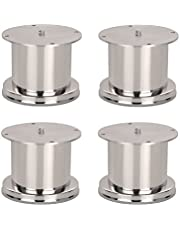 A & Y Traders Glossy Finish Stainless Steel Round Sofa Leg, 50 mm Tickness (6 inch) -4 Pieces