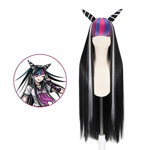 CAR-TOBBY Anime Danganronpa Dangan-Ronpa Ibuki Mioda Deluxe Long Mix Black  Styled Cosplay Wig