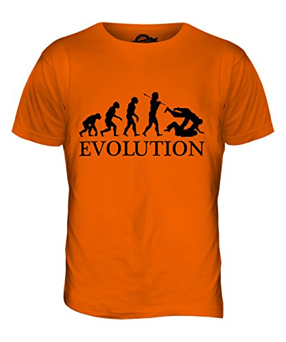CandyMix Judo Evolution Des Menschen Herren T Shirt Orange