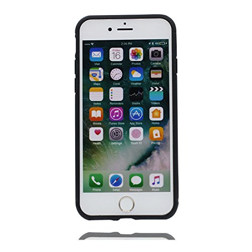 iPhone 6 Plus Custodia, iPhone 6s Plus Copertura Crystal Case gel trasparente [Slim-Fit] [Anti-Scratch] [assorbimento di scossa] iPhone 6S Plus Copertura 5.5 (foglie di palma) # 2