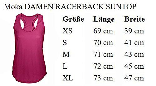 Ladies Damen Women T-Back Tank Top Moka Tanktop Sommertop Damentop Unicorn Einhorn cutie Schwarz