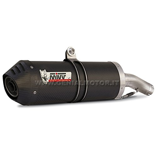 KAWASAKI ZX6R 600 2008 08 Pot d'échappement Exhaust mivv ovale carbone Cat underseat