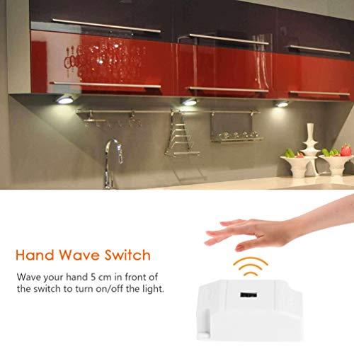 LEDGLE Set di 3 Onda delle mani attivata Luci LED sottopensile 550 ...