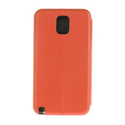 YHUISEN Solid Color Premium-PU-Leder und weicher TPU Gummischutz Mappen-Entwurfs-Flip Folio Case Schutzhülle mit Karten-Slot / Standplatz für Samsung Galaxy Note 3 ( Color : Rose Gold ) Red