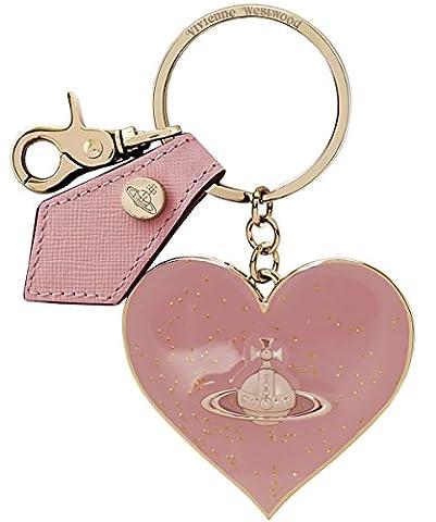 Vivienne Westwood Accessories Women's Mirror Heart Keyring One Size