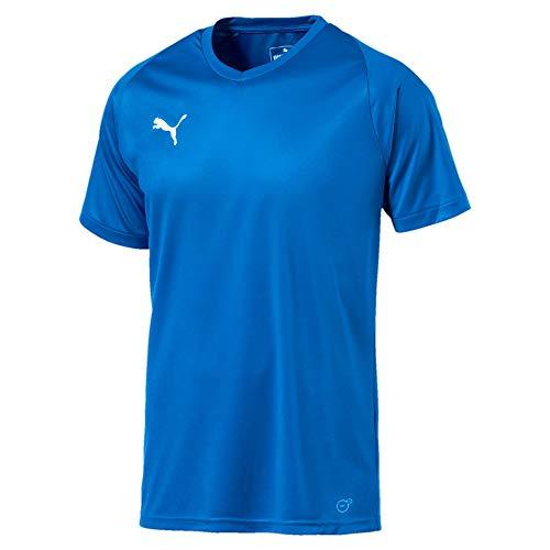 PUMA Liga CR H Camiseta de Manga Corta, Hombre, Azul Electric Blue Lemonade/White, 3XL