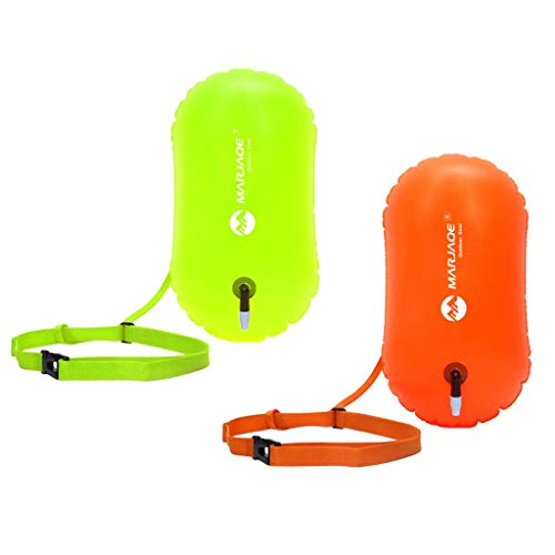 Yundxi - 2 Piezas de Burbujas de natación de Seguridad Gruesas con cinturón Ajustable para triatletas de Agua Abierta, Kayak, Snorkeling, surfistas, Playa, natación, Barco