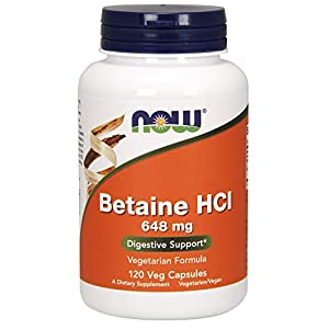 NOW Foods Betain HCl, 648mg – 120 VKapseln