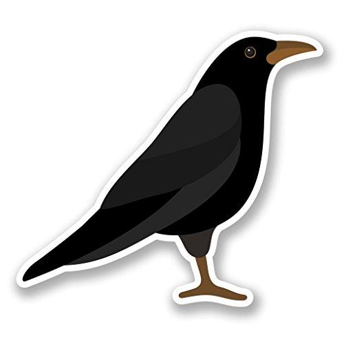 2 x 25cm/250mm Rabe Krähe Blackbird Fenster kleben Aufkleber Auto Van Wohnmobil Glas #5819 -