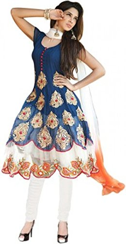 Florence Georgette Anarkali Semi Stitched Dress Material(SL028)