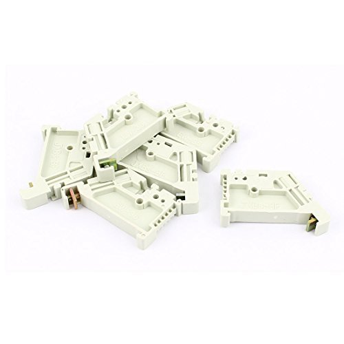 DealMux 6Pcs 35mm DIN Rail Terminal Block End Stopper Mounting Clips Din Rail Clips
