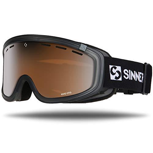 SINNER Skibrille für Herren und Damen in Mehrere Stylische Farben - Brille für Ski & Snowboard mit Beschlag- und UV Schutz & Doppel-Objektiv für Anti-Fog - Goggle ist Skihelm Kompatibel - Grau