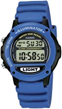 CASIO Collection LW-22H-2AVES - Reloj digital de cuarzo con correa de resina unisex (cronómetro, alarma, luz, sumergible a 50 m), color azul