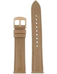 Fossil Uhrband Wechselarmband LB-ES3816 Original Ersatzband ES 3816 Uhrenarmband Leder 18 mm Beige