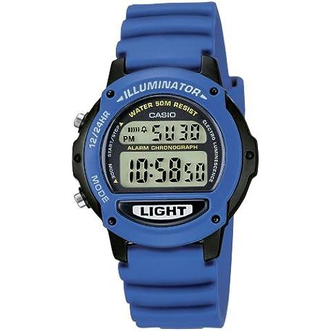 CASIO Collection LW-22H-2AVES - Reloj digital de cuarzo con correa de resina unisex (cronómetro, alarma, luz, sumergible a 50 m), color
