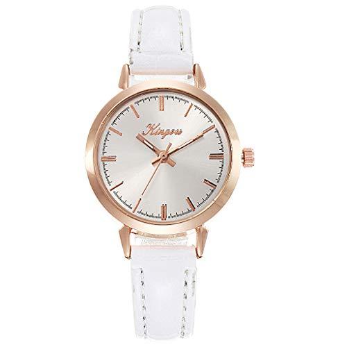 XZDCDJ Damenuhren Erwachsene Analog Quarz Uhr Fashion Armbanduhren Klassiche Uhren Diagonale römische Digitalwaage Rose Gold Shell Gürtel Quarz Mode weibliche Uhr - Rose Ärmellose Shell