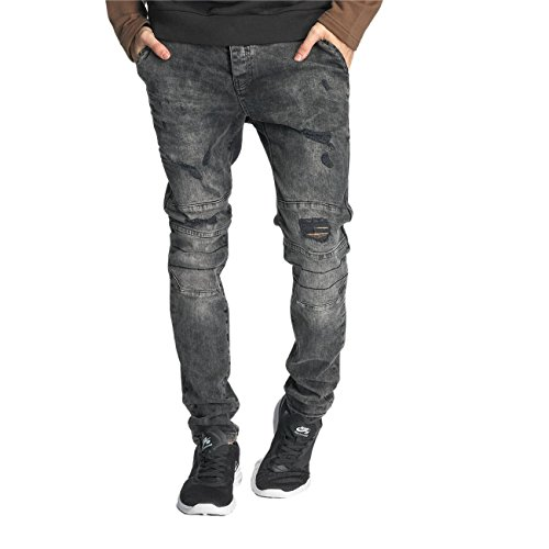 Just Rhyse Homme Jeans / Jeans Straight Fit Destroyed Gris