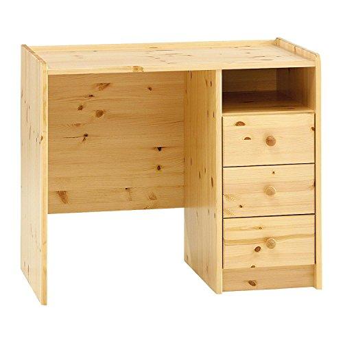 Avanti Trendstore - Schreibtisch in Kiefer massiv mit 3 Schubladen, ca 89x74x54 cm