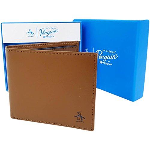 original-penguin-penguin-wallet-6215-cartera-para-hombre-de-piel-hombre-marron-capuchino