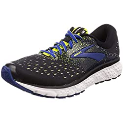 Brooks Glycerin 16, Scarpe da Running Uomo, Nero (Black/Lime/Blue 050), 44 EU