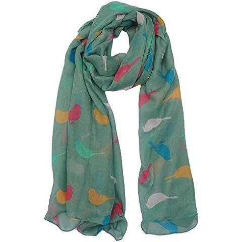 Diseño de pájaros diseño de bufanda con diseño en verde de pulsera para mujer con bufandas con estampado Animal para Nochevieja bufanda de cocina con Mrs