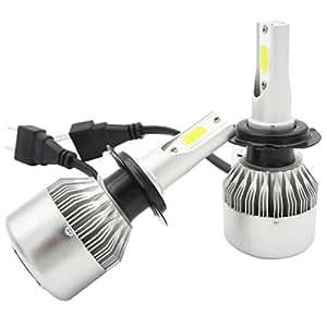 2 h7 led phares voiture ampoules nuoyo led phare kit de ampoule de rechange auto. Black Bedroom Furniture Sets. Home Design Ideas