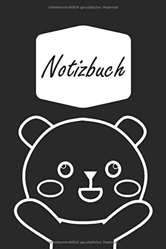 Notizbuch: Glücklicher Bär in schwarz & weiß | geeignet als Tagebuch, Notizheft, Skizzenbuch und Schulheft | für Kinder: Mädchen und Jungen (A5 | liniertes Papier | Soft Cover | 100 Seiten) (Schwarz Bruder Kostüm)
