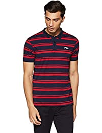 Fila Men's Striped Regular Fit Polo