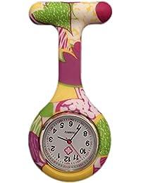 Boolavard® TM Multi Farben Krankenschwester Brosche Fob Tunika Uhr Silikonhülle Krankenschwester Uhren
