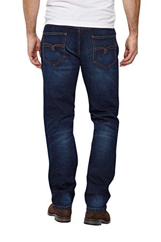 next Herren Jeans mit Guertel Straight Fit Dunkelblau