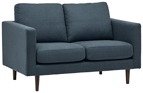 Rivet Revolve Moderner Loveseat, B 142 cm, Denim