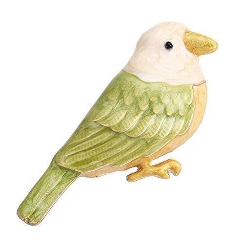 TENDYCOCO Vogel Brosche Retro Strass Vogel Ölgemälde Tier Brosche für Frauen Kleidung Dekor (Vögel ölgemälde)